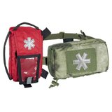 MODULAR INDIVIDUAL MED KIT® Pouch Helikon-Tex Red with PENCOTT BADLANDS_