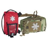 MODULAR INDIVIDUAL MED KIT® Pouch Helikon-Tex Red with A-TACS FG_