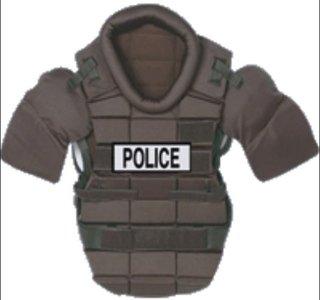 RIOT VEST zwart/black (Police Velcro) H-TAC