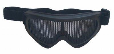 Metal Mesh Shield Goggle II - Zwart