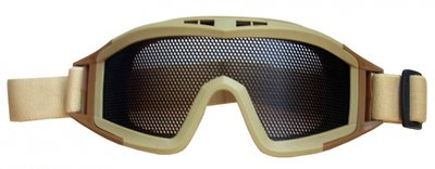 Metal Mesh Shield Goggle  - Desert