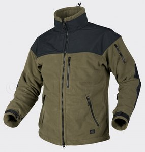 Windblocker Classic Heavy Fleece BLACK w OLIVE GREEN