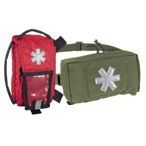 MODULAR INDIVIDUAL MED KIT® Pouch Helikon-Tex Red with OLIVE GREEN