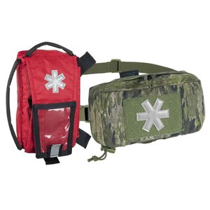 MODULAR INDIVIDUAL MED KIT® Pouch Helikon-Tex Red with A-TACS IX