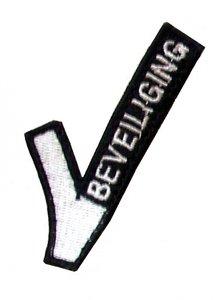 """Stof embleem beveiliging """"V-tje"""" ZONDER Velcro op achterzijde GRATIS VERZENDING"""